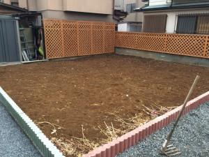 秩父城の前にある家庭菜園